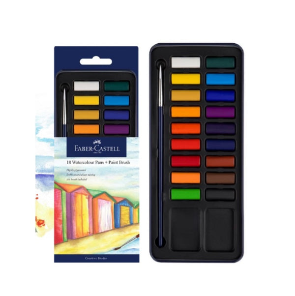 Faber-Castell Studio Watercolour Paint Tin of 18