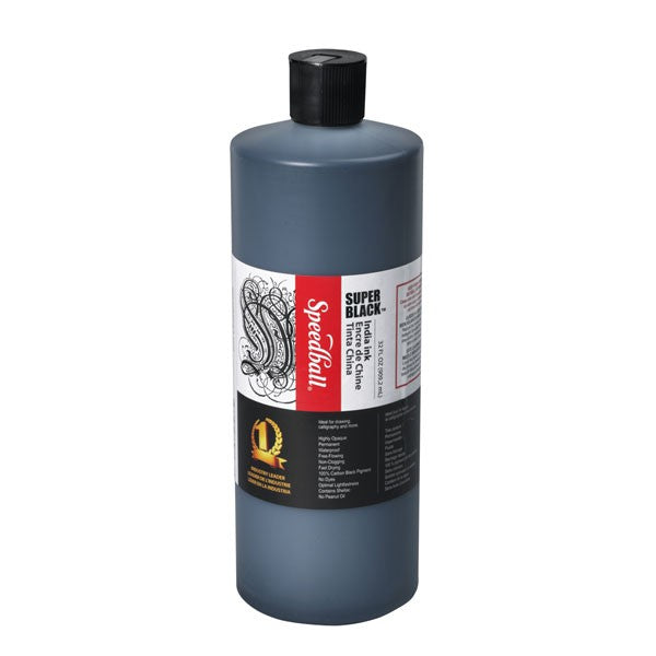 Speedball Indian Ink Black 16oz