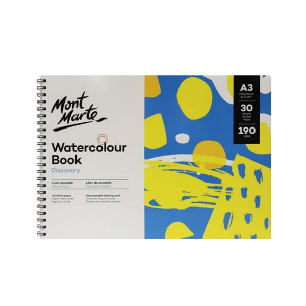 Mont Marte Discovery Watercolour Book 190gsm