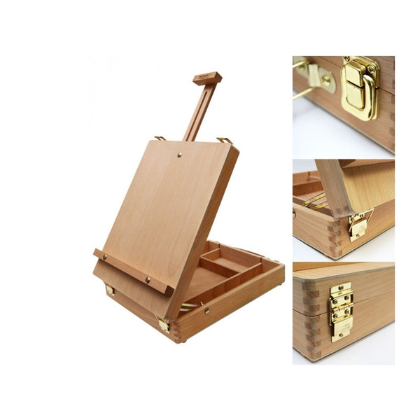 Mont Marte Tabletop Box Easel Medium Beech Wood