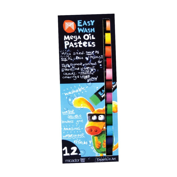Micador Easy Wash Mega Oil Pastels pack of 12