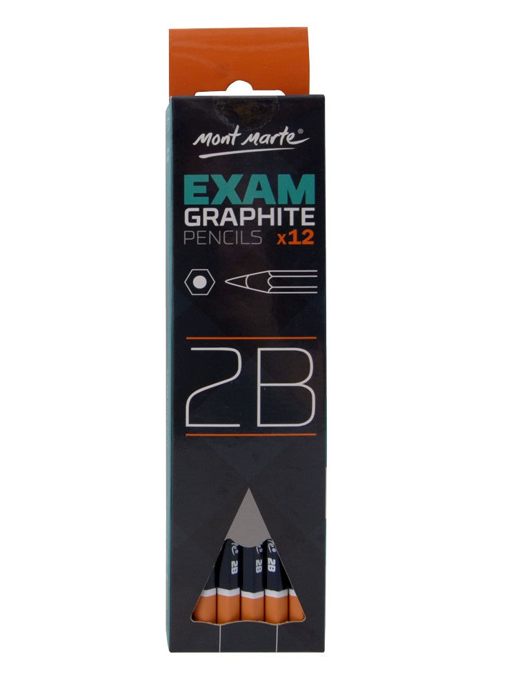 Mont Marte Exam Graphite Pencil 12pce - 2B