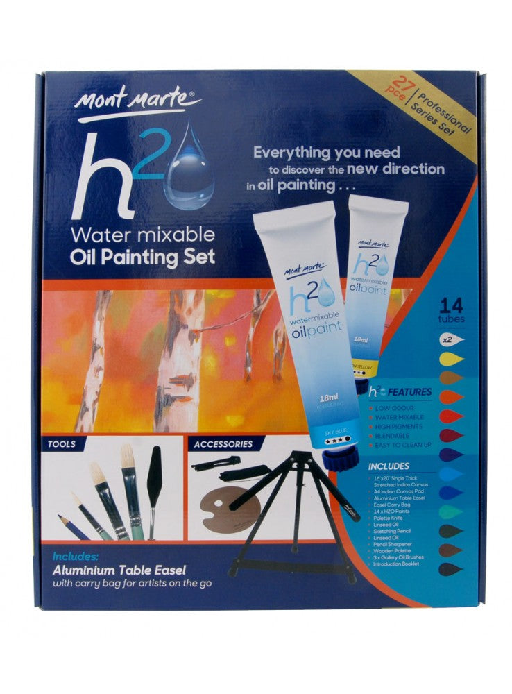 Mont Marte Water Mixable Oil Painting Set 27pce