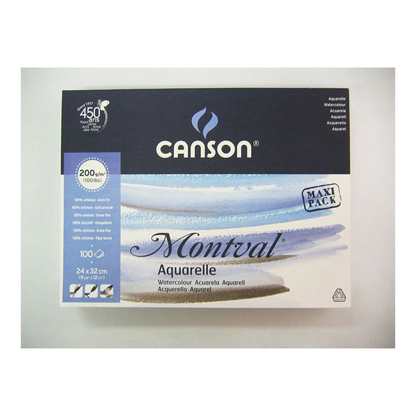 Canson Montval Watercolour MAXI Pad 200gsm 100 sheet