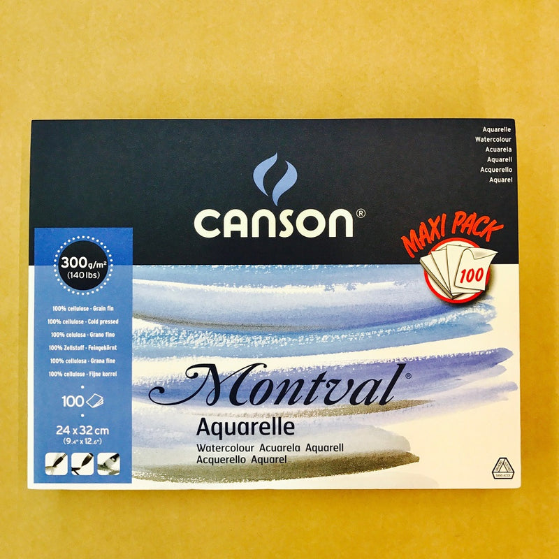 Canson Montval Watercolour MAXI Pad 300gsm 100 sheets