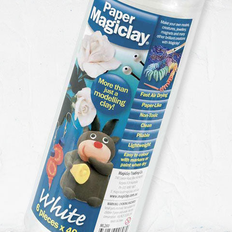 Paper Magiclay White 40g x 6
