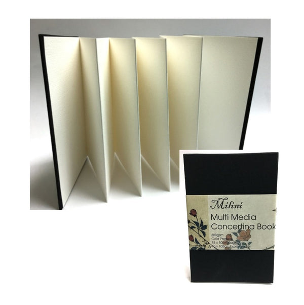 Milini Multi Media Concertina Book 300gsm