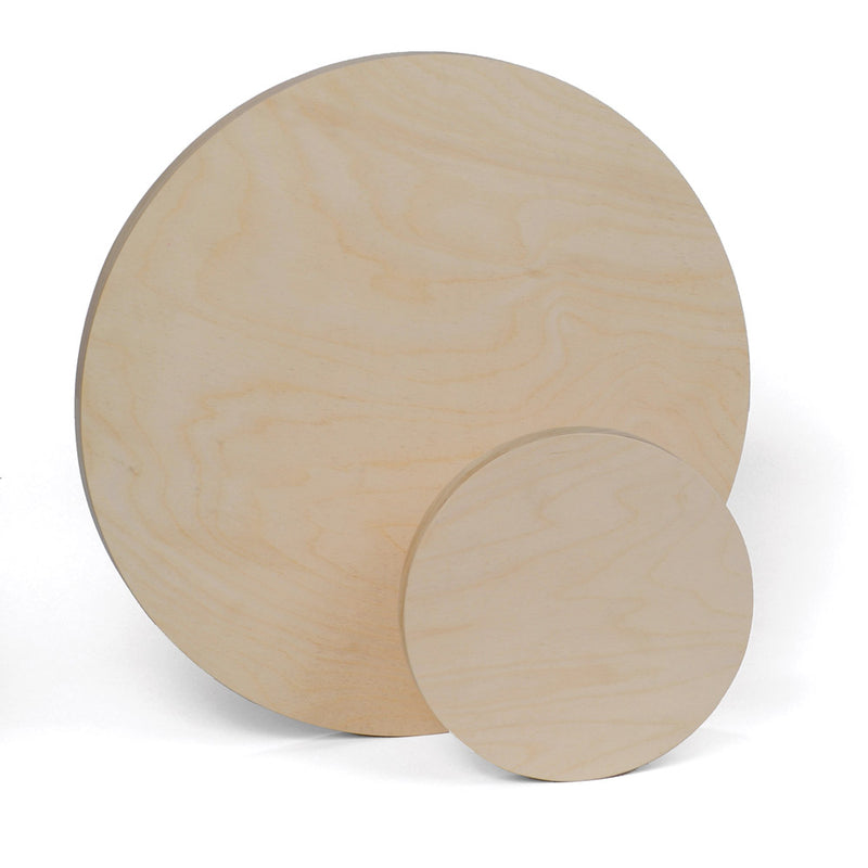Round Wood Painting Panel