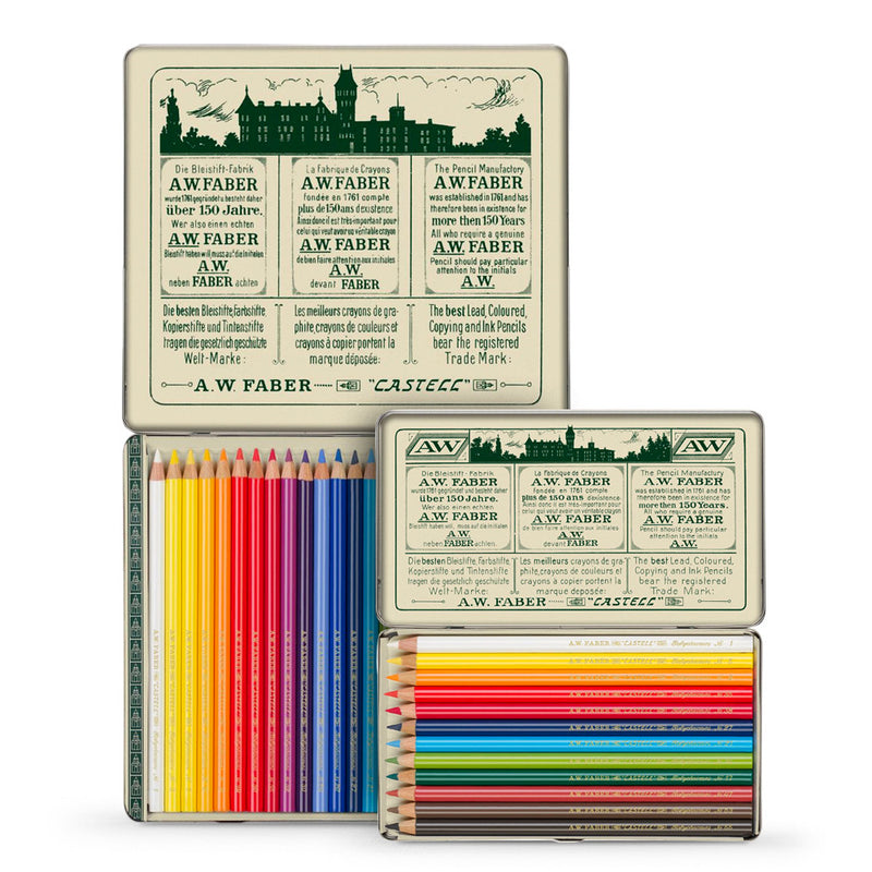 FC Polychromos Coloured Pencil Retro Tin of 24