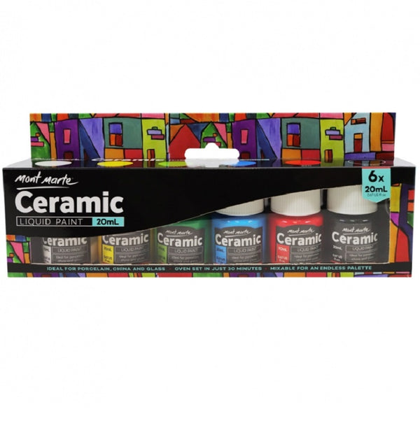 Mont Marte Ceramic Paint Set 6pce x 20ml