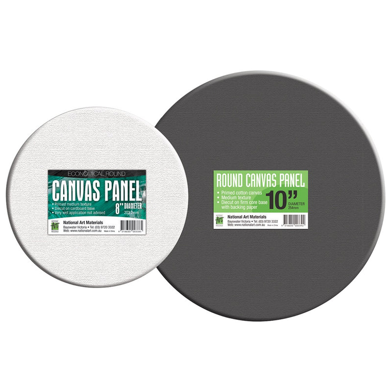 NAM Round Canvas Panel White