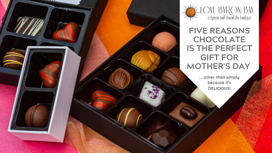 5 reasons why you need to give chocolate to your mum, stepmum, mother-in-law, grandmother this mother's day!