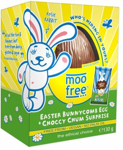 Vegan Moo Free Easter Egg with Honeycomb