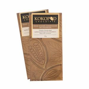 Kokopod Chocolate Artisan Gold Digger Honeycomb Milk Love Byron Bay