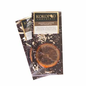 Kokopod Chocolate Artisan Orange Almond Dark Love Byron Bay