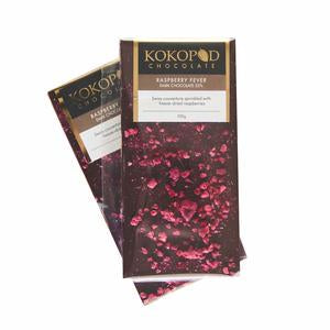 Kokopod Chocolate Artisan Raspberry Dark Couverture Love Byron Bay