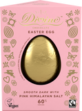 Divine Vegan 60% Dark Chocolate Pink Himalayan Salt Large Egg