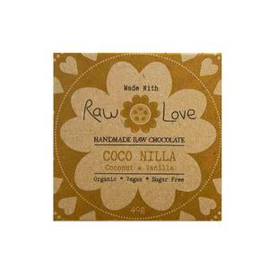 Raw Love Handmade Chocolate Coconut Vanilla Organic Vegan SugarFree Love Byron Bay