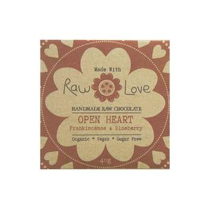 Raw Love Handmade Chocolate Frankincense Blueberry Organic Vegan SugarFree Love Byron Bay