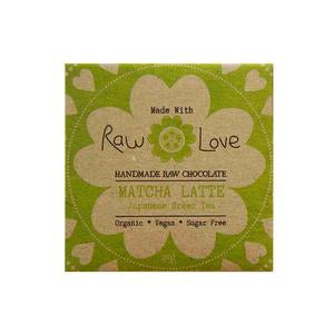 Raw Love Handmade Chocolate Matcha Latte Organic Vegan SugarFree Love Byron Bay