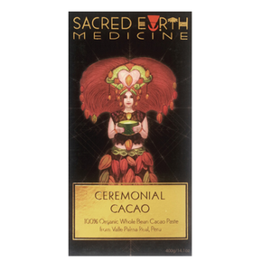 Sacred Earth Medicine Ceremonial 100 Cacao Dark Chocolate Organic Love Byron Bay