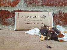 Load image into Gallery viewer, Monsieur Truffe - 70% Hazenuts and Caramel - Organic Vegan and GF