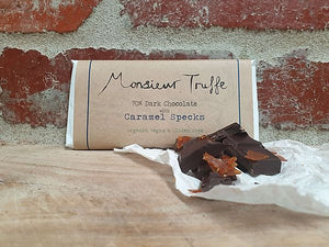 Monsieur Truffe - 70% Organic Dark Chocolate with Caramel Specks