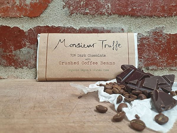 Monsieur Truffe - 70% Organic Dark Chocolate with Crushed Coffee Beans
