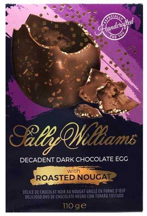 Decadent Dark Chocolate and Roasted Nougat Egg