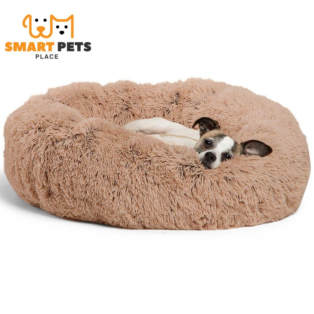 SMART PETS PLACE COMFY™ CALMING PET BED - XS / Brown