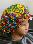 Washable,Microwavable Deep Conditioning Heat Cap Thermal Cap  - Lively African Ankara