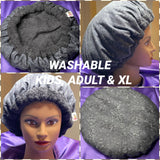 Midnight - Washable, Microwavable Deep Conditioning Heat Cap Natural Hair Repair Thermal Cap