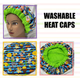 Hola Boricua - Washable, Microwavable Deep Conditioning Natural Hair Heat Cap Thermal Cap