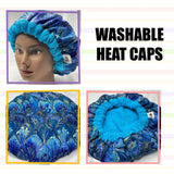 Deep Condition Heat Cap Washable, Microwavable Natural Hair Curly Hair Repair Thermal Cap - Peacock