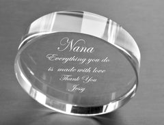 engraved paperweight