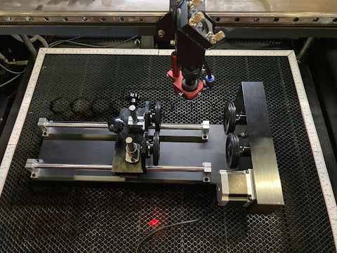 rotary attachment for laser machines