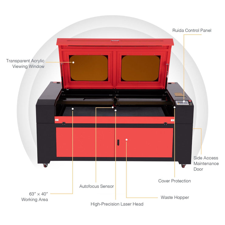 55w CO2 Cabinet Laser Engraver Cutting Machine Parts Picture