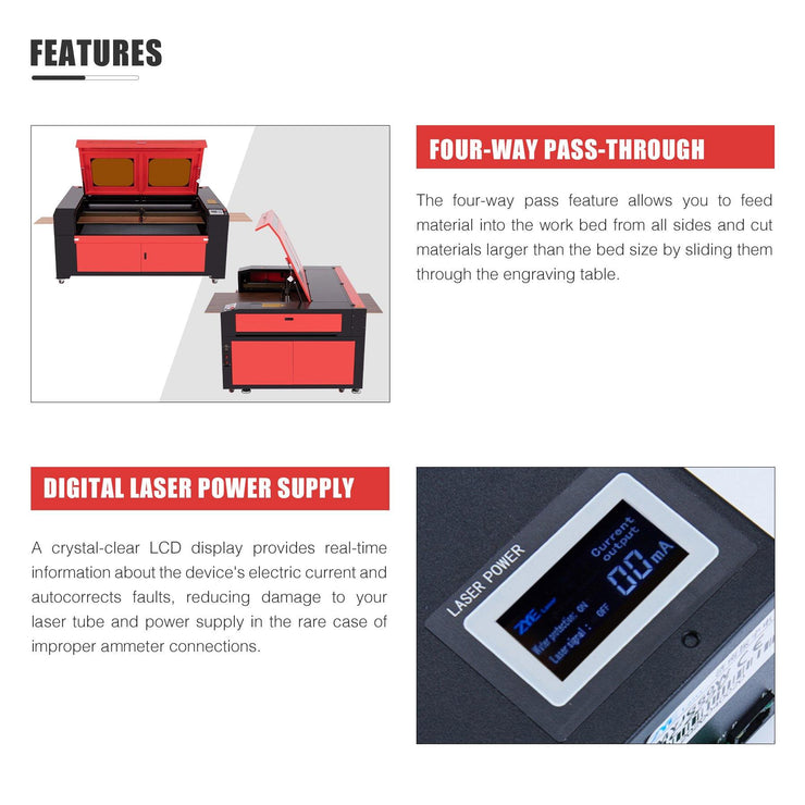 55w CO2 Cabinet Laser Engraver Cutting Machine Features Picture