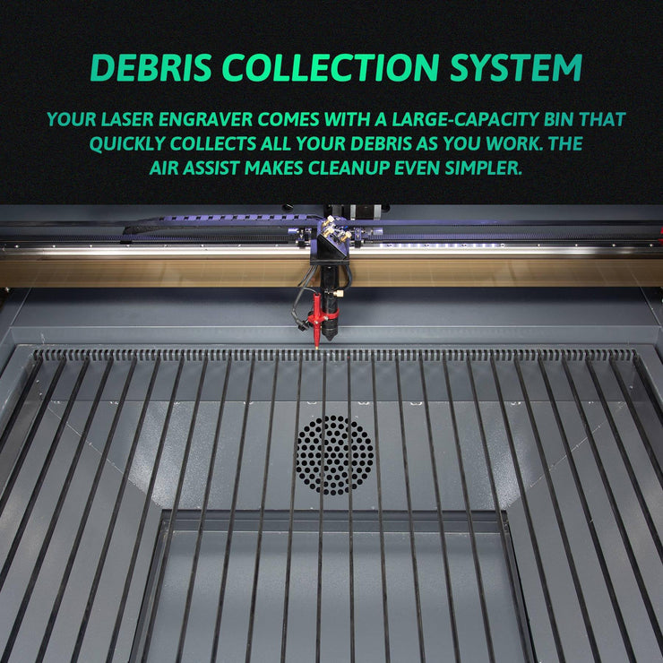 100W CO2 Laser Engraver Cutter Debris Collection System