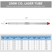 12000hr Service Life A4S CO2 Laser Tube Capacity