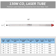 12000hr Service Life A6S CO2 Laser Tube Capacity