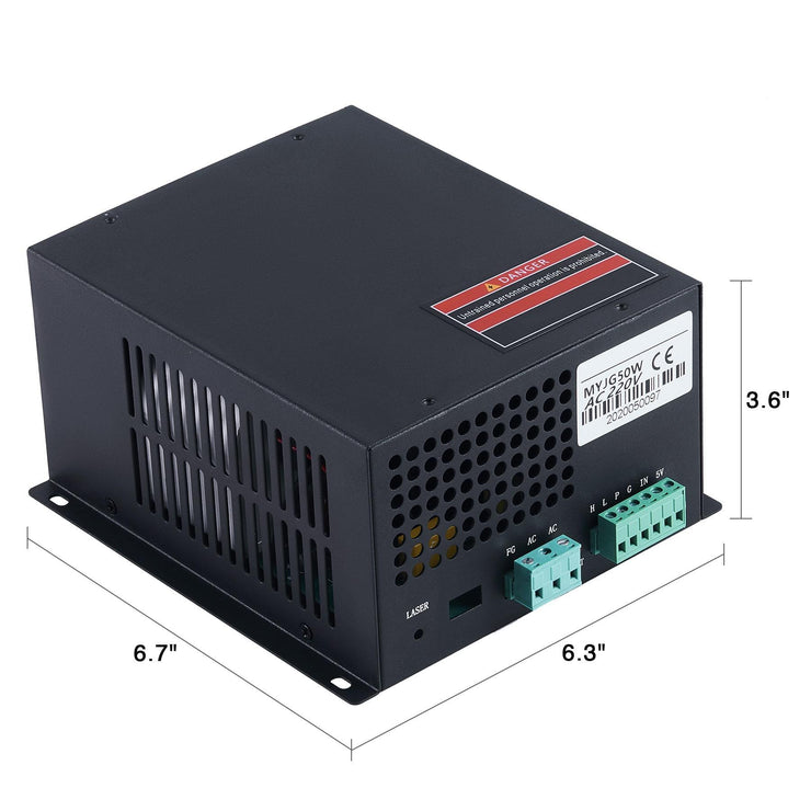 50W Laser Power Supply Dimensions