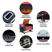 60W CO2 Laser Engraver Machine Parts