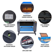 60W CO2 Cabinet Laser Engraver Cutting Machine Picture