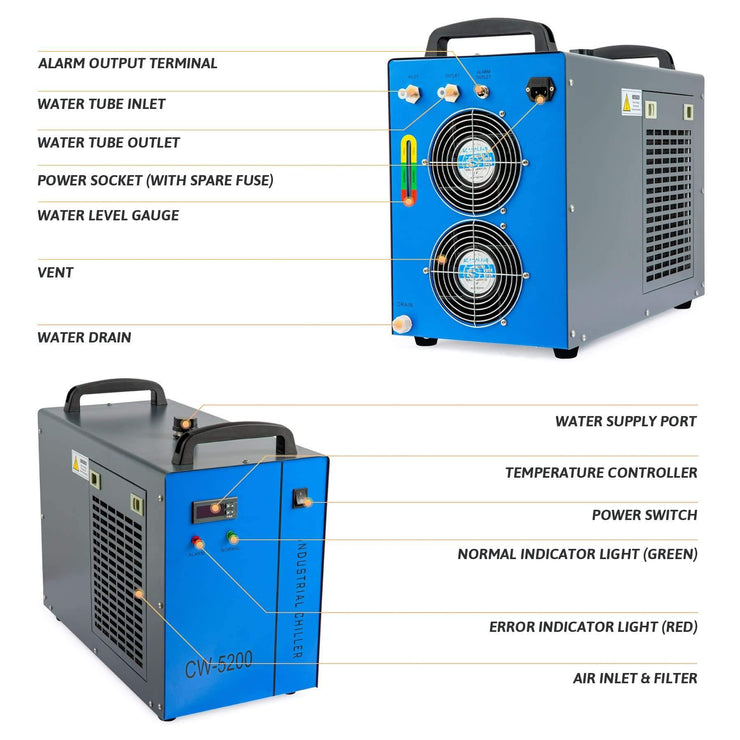 6L Industrial Water Chiller Details