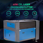 60W CO2 Laser Engraver Cutting Machine