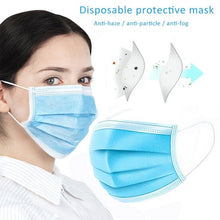 Load image into Gallery viewer, 30PCS 3-Layers Non-woven Filter Bacteria Disposable Face Masks