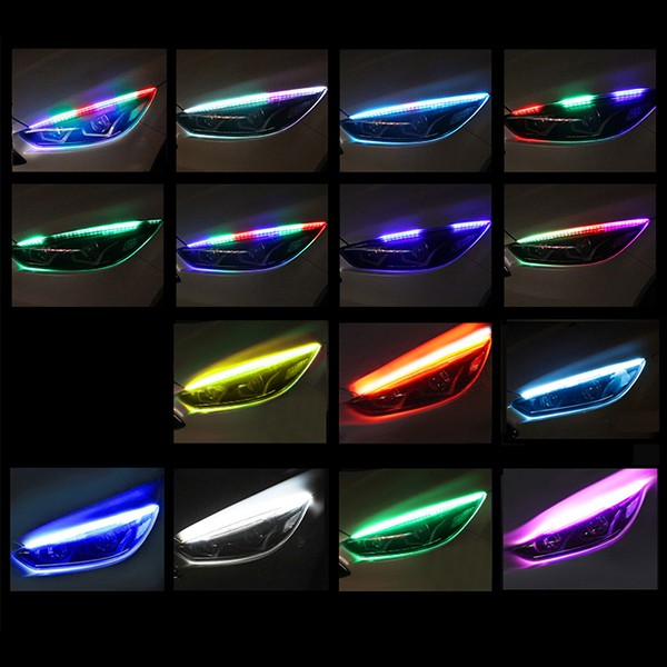 Auton RGB LED huomiovalot