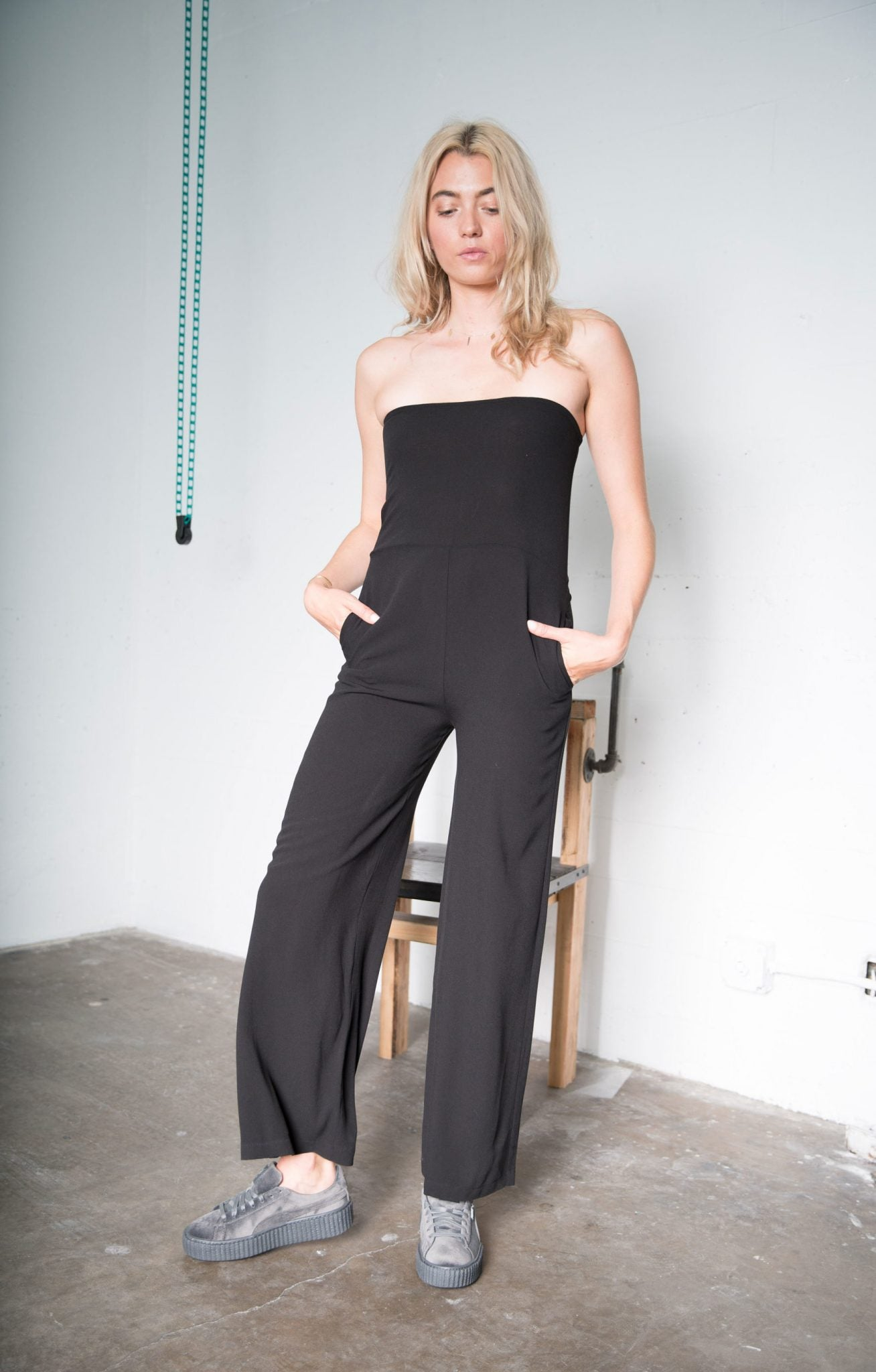 Renee Jumpsuit - Black Crepe