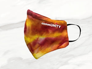 Tie Dye Mask yellow orange red